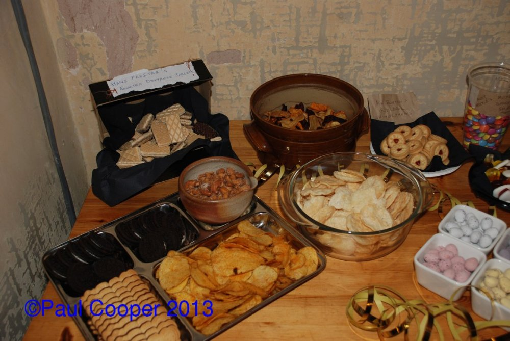 Assortments of snacks