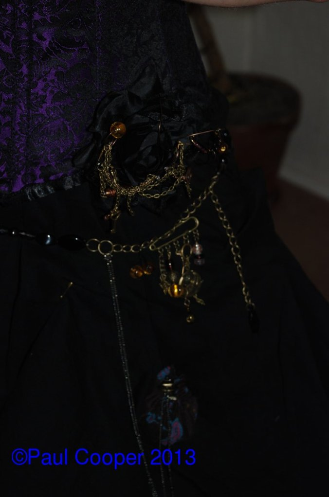 Detail on Lizzie's costume