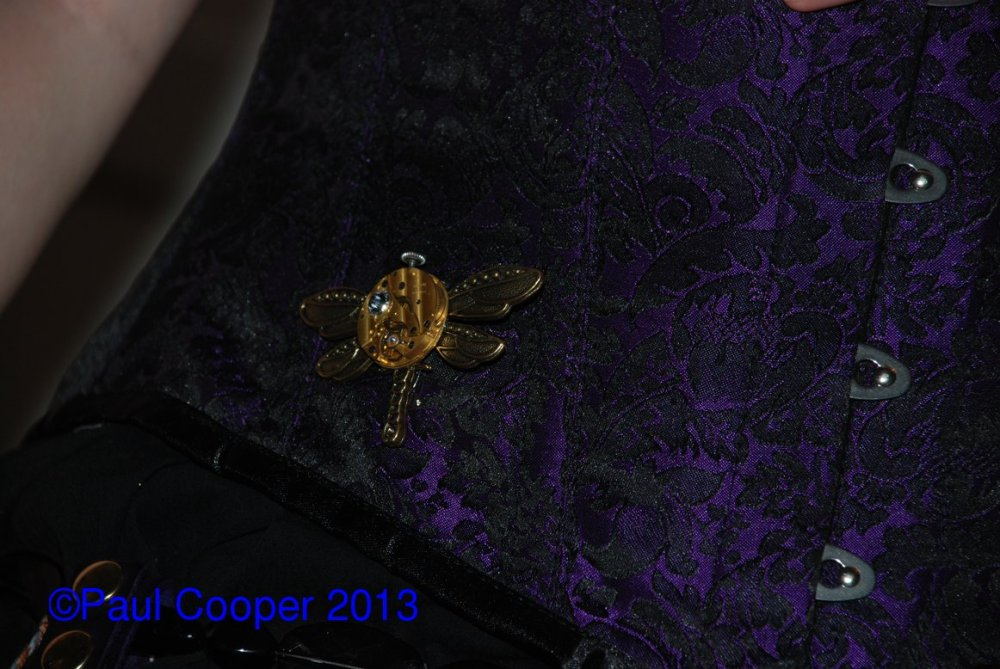 This is the brooch I gave Lizzie for her birthday, goes nicely with the costume.
