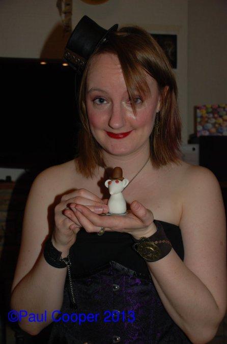 Lizzie with her rat
