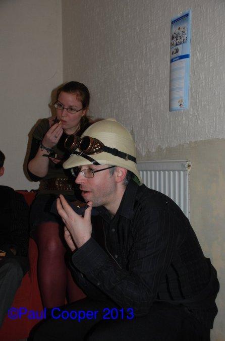 Dave in John's hat