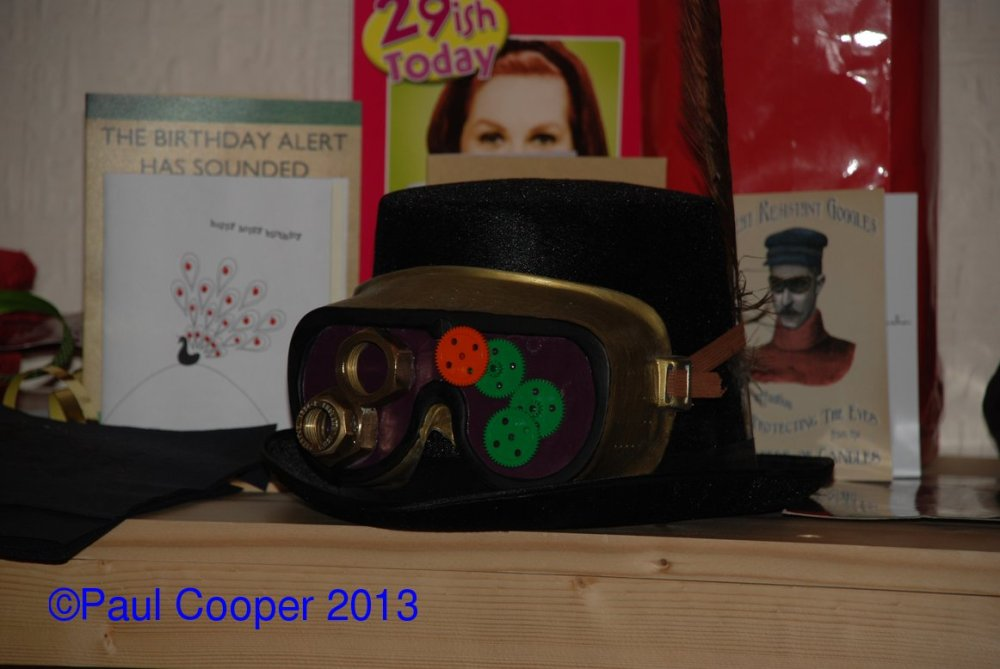 My goggles.  Unfortunately the cogs kept falling off but the big heavy nuts stayed put!