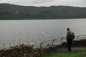 Lizzie keeps a look out for Nessie