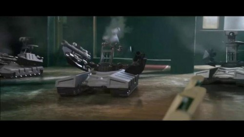 The most realistic looking robots in the film.