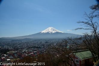 Fujiyoshida and Fuji