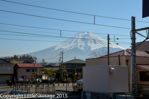 Fuji from the station.