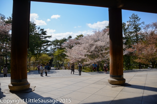 Nanzen-ji, standing inside the gatehouse