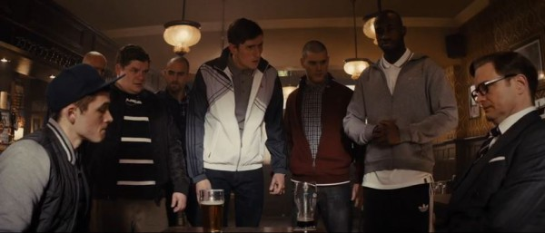 Colin prepares for a throwdown in the pub.