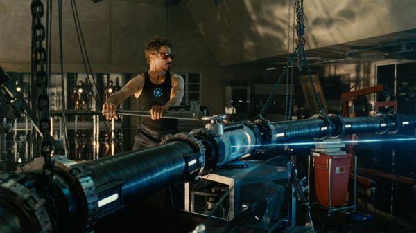 Tony Stark proves that, when it comes to particle physics, looking cool and having a massive tool trumps pretty much everything else.